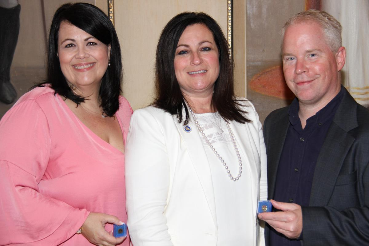 St. Bernard Parish Assessor's Office Deputies Receive Certification Pins At Conference